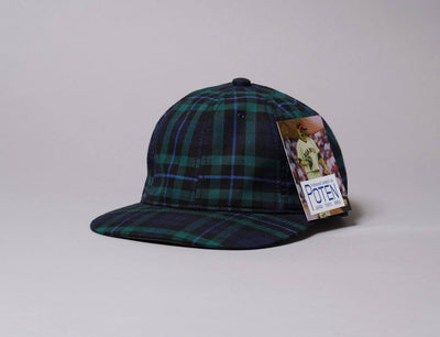 Cap Adjustable Poten Japan Flannel Cap Navy Poten Adjustable Cap / Multi / One Size