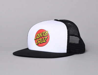 Cap Trucker Santa Cruz Classic Dot Mesh Cap Black/White Santa Cruz