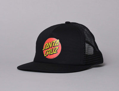 Cap Trucker Santa Cruz Classic Dot Mesh Cap Black/Black Santa Cruz Trucker Cap / Black / One Size