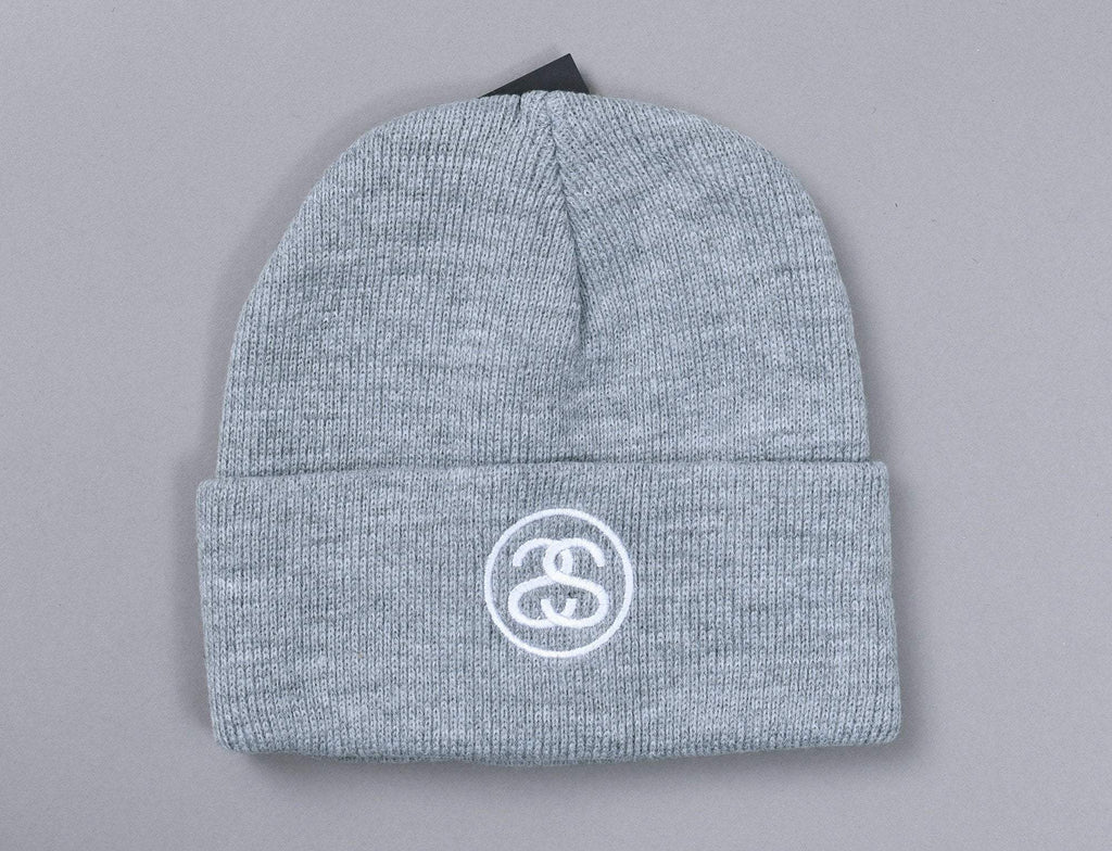 Stussy SS Link Cuff Beanie Heather Grey
