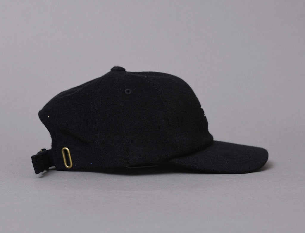 Stussy Stock Terry Cloth Low Pro Cap Black