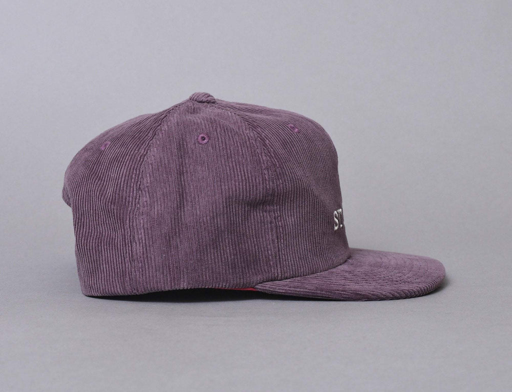 Stussy Washed Cord Cap Wine
