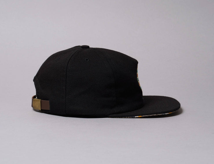 Cap Adjustable The Ampal Creative Sun Face Wool Black The Ampal Creative Adjustable Cap / Black / One Size