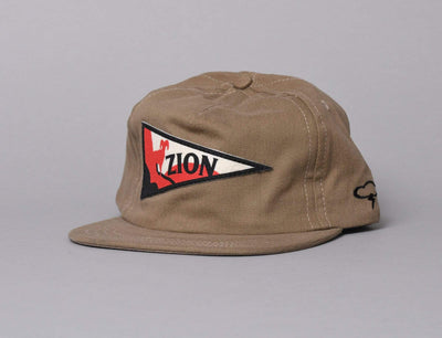 Cap Adjustable The Ampal Creative Zion Pennant Khaki The Ampal Creative Adjustable Cap / Brown / One Size