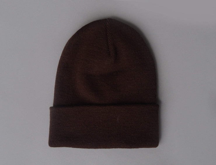 Beanie Cuff Flexfit Heavyweight Long Beanie 1501KC  Brown Yupoong Cuff Beanie / Brown / One Size