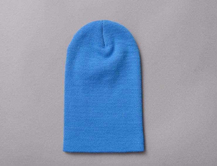 Beanie Cuff Flexfit Heavyweight Long Beanie 1501KC  CL Blue Yupoong Cuff Beanie / Blue / One Size