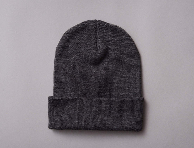 Beanie Cuff Flexfit Heavyweight Long Beanie 1501KC  Charcoal Yupoong Cuff Beanie / Grey / One Size