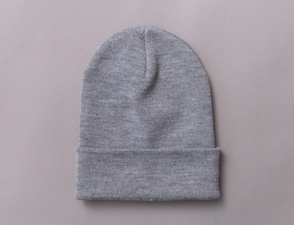 Flexfit Heavyweight Long Beanie 1501KC  Heather Grey