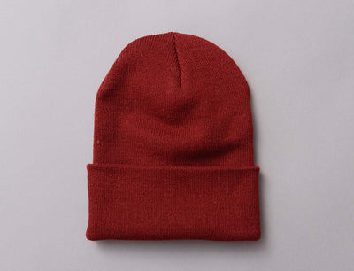 Beanie Cuff Flexfit Heavyweight Long Beanie 1501KC  Maroon Yupoong Cuff Beanie / Red / One Size