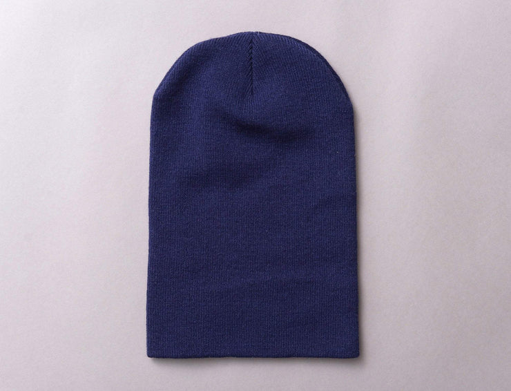Beanie Cuff Flexfit Heavyweight Long Beanie 1501KC  Navy Yupoong Cuff Beanie / Blue / One Size