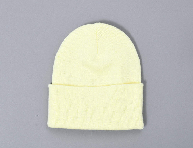 Beanie Cuff Flexfit Heavyweight Long Beanie 1501KC  Powder Yellow Yupoong Cuff Beanie / Yellow / One Size