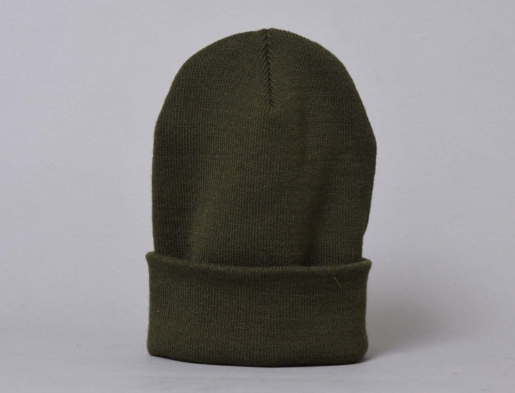Beanie Cuff Flexfit Heavyweight Long Beanie 1501KC  Olive Yupoong Cuff Beanie / Green / One Size