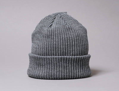 Beanie Fisherman Flexfit Rib Beanie Heather Grey 1502RB Yupoong Fisherman Beanie / Grey / One Size
