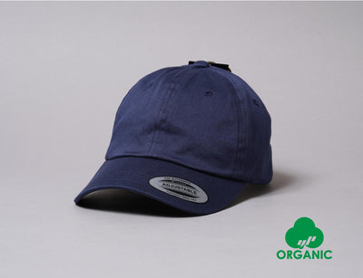 Cap Adjustable Yupoong 6245OC Low Profile Organic Cotton Cap Navy Yupoong Adjustable Cap / Blue / One Size