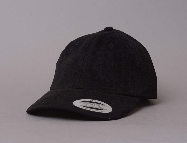 Cap Adjustable Flexfit 6245VC Velour Cap Black Yupoong Adjustable Cap Cap / Black / One Size
