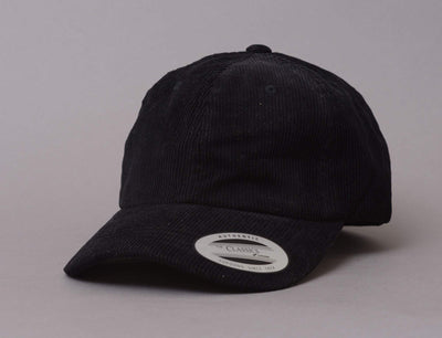 Low Profile Corduroy Cap Flexfit 6245CD Black
