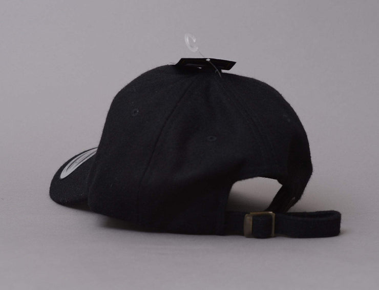 Low Profile Melton Wool Dad Cap Flexfit 6245MW Black