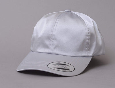 Cap Adjustable Flexfit 6245SC Low Profile Satin Cap 6245SC Silver Yupoong Adjustable Cap Cap / Grey / One Size
