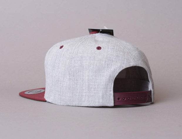 Yupoong Classic Snapback 6089MT Heather Grey/Maroon
