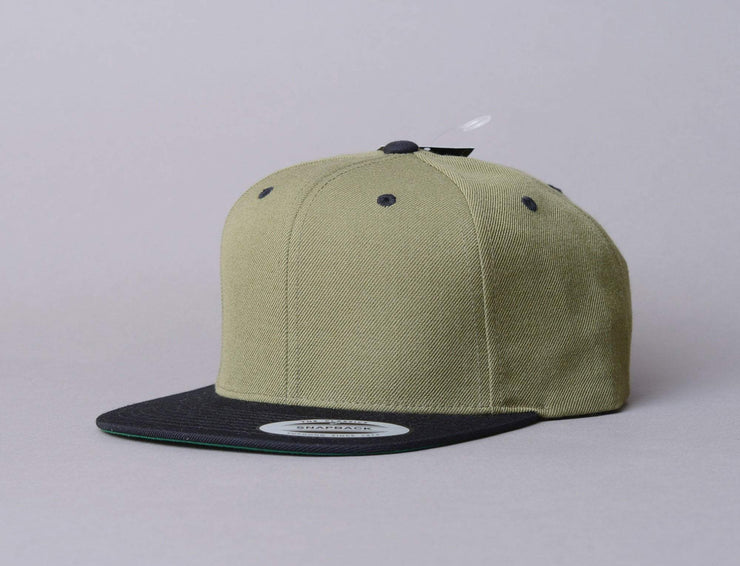 Cap Snapback Yupoong Classic Snapback 6089MT Olive/Black Yupoong Snapback Cap / Green / One Size