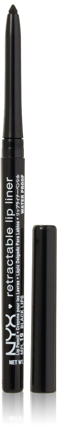 NYX Retractable Lip Liner BLACK LIPS 0.01 oz.