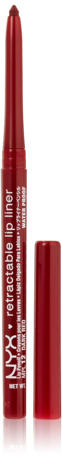 NYX Retractable Lip Liner DARK RED 0.01 oz.