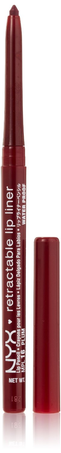 NYX Retractable Lip Liner PLUM 0.01 oz.