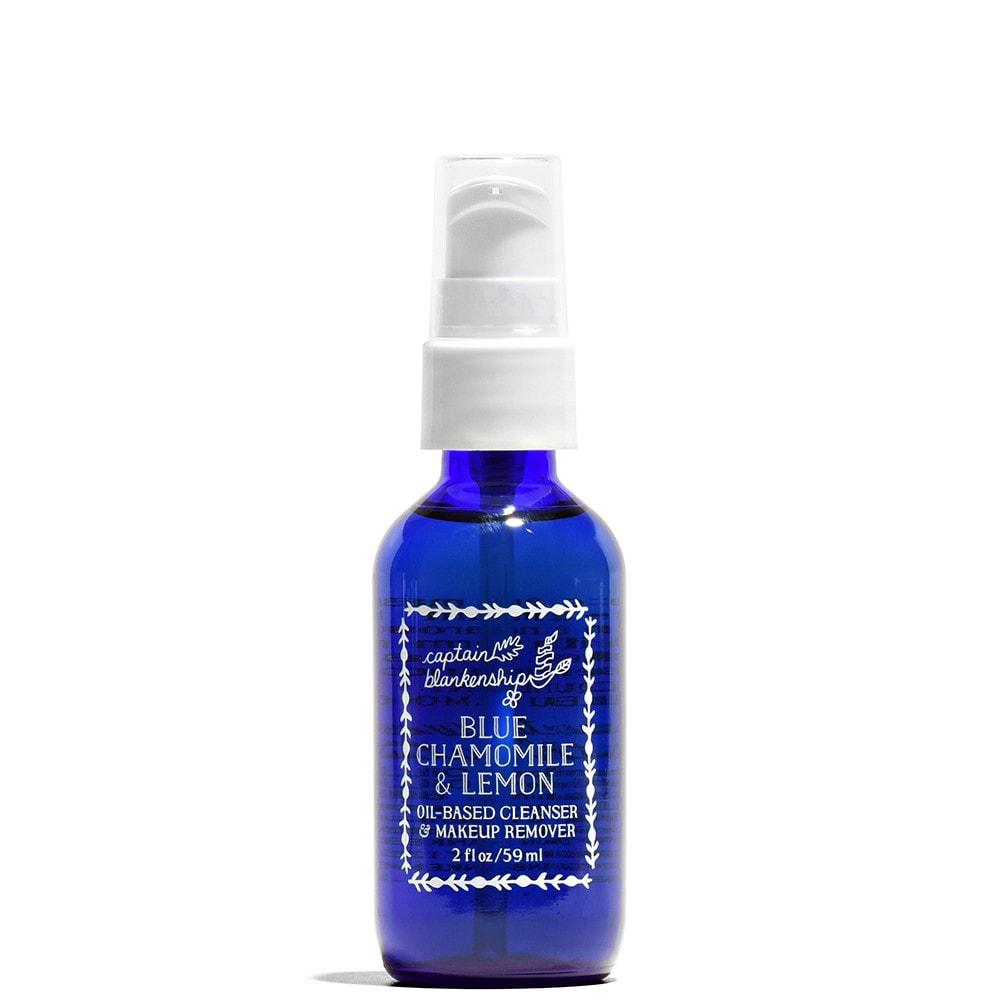 captain blankenship BLUE CHAMOMILE & LEMON OIL BASED CLEANSER & MAKEUP REMOVER 2 fl oz