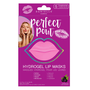 DANIELLE Creations perfect pout HYDROGEL LIP MASKS WITH ACAI BERRY COLLAGEN 5 MASKS