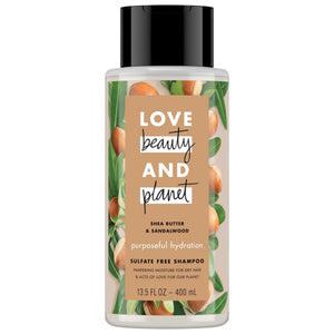 LOVE beauty AND planet SHEA BUTTER & SANDALWOOD purposeful hydration CONDITIONER 13.5 FL OZ