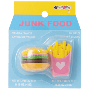 iscream JUNK FOOD VANILLA FLAVORED LIP BALM 2PC