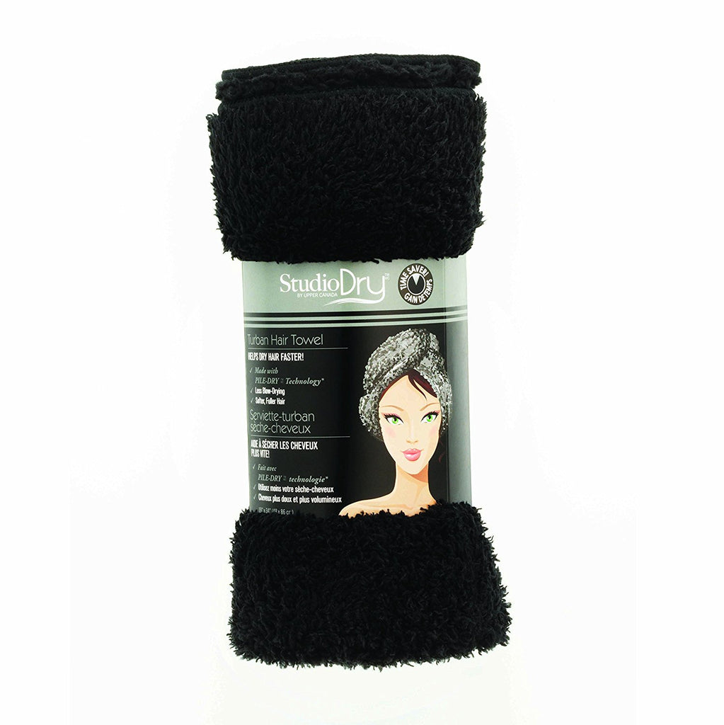 Upper Canada Studio Dry hair drying towel Black