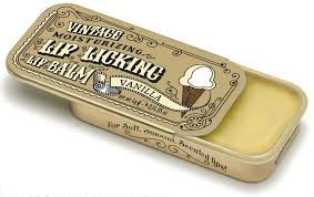 VINTAGE MOISTURIZING LIP LICKING LIP BALM TIN VANILLA