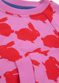 Kissing Rabbits Organic Cotton Kids Sweatshirt