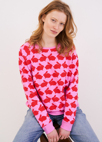 Kissing Rabbits Organic Cotton Sweatshirt