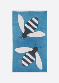 Buzzy Bee Organic Cotton Towels (Blue)