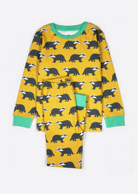 Kissing Badgers Organic Cotton Kids Pyjamas