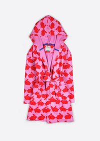 Kissing Rabbits Organic Cotton Kids Dressing Gown