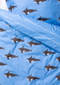 Orca Organic Cotton Bedding (Blue)