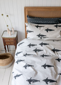 Orca Organic Cotton Bedding (Grey)