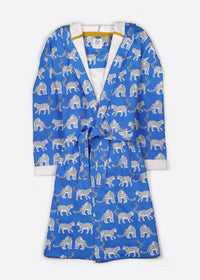 Snow Leopards Organic Cotton Dressing Gown