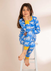 Snow Leopards Organic Cotton Kids Pyjamas