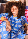 Snow Leopards Organic Cotton Jersey Pyjamas