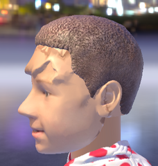 bad scan - need to clear face and pull back hair