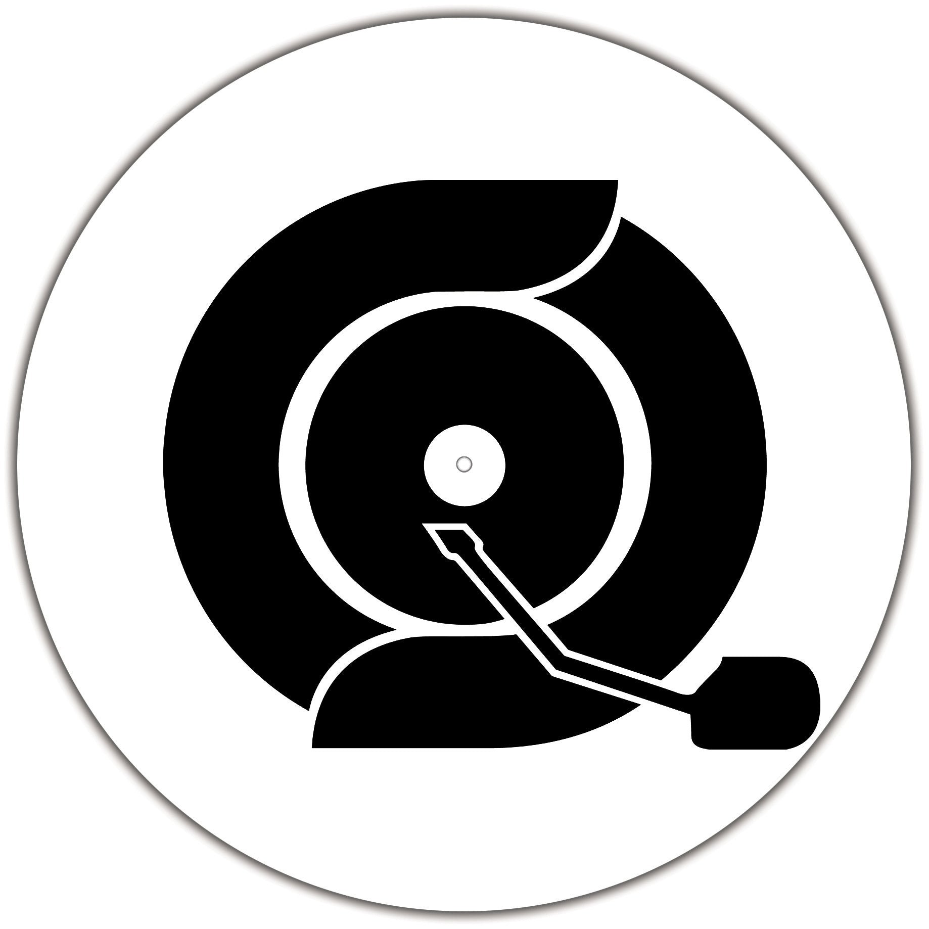 Turntable Slipmats (Black & White) - Crate Connect Clothing - DJ Clothing - Turntable Clothing