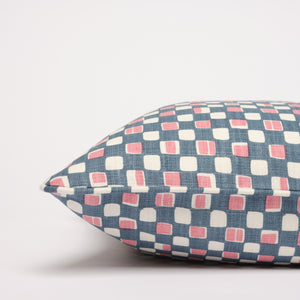 FAYE CUSHION - BLUE PINK