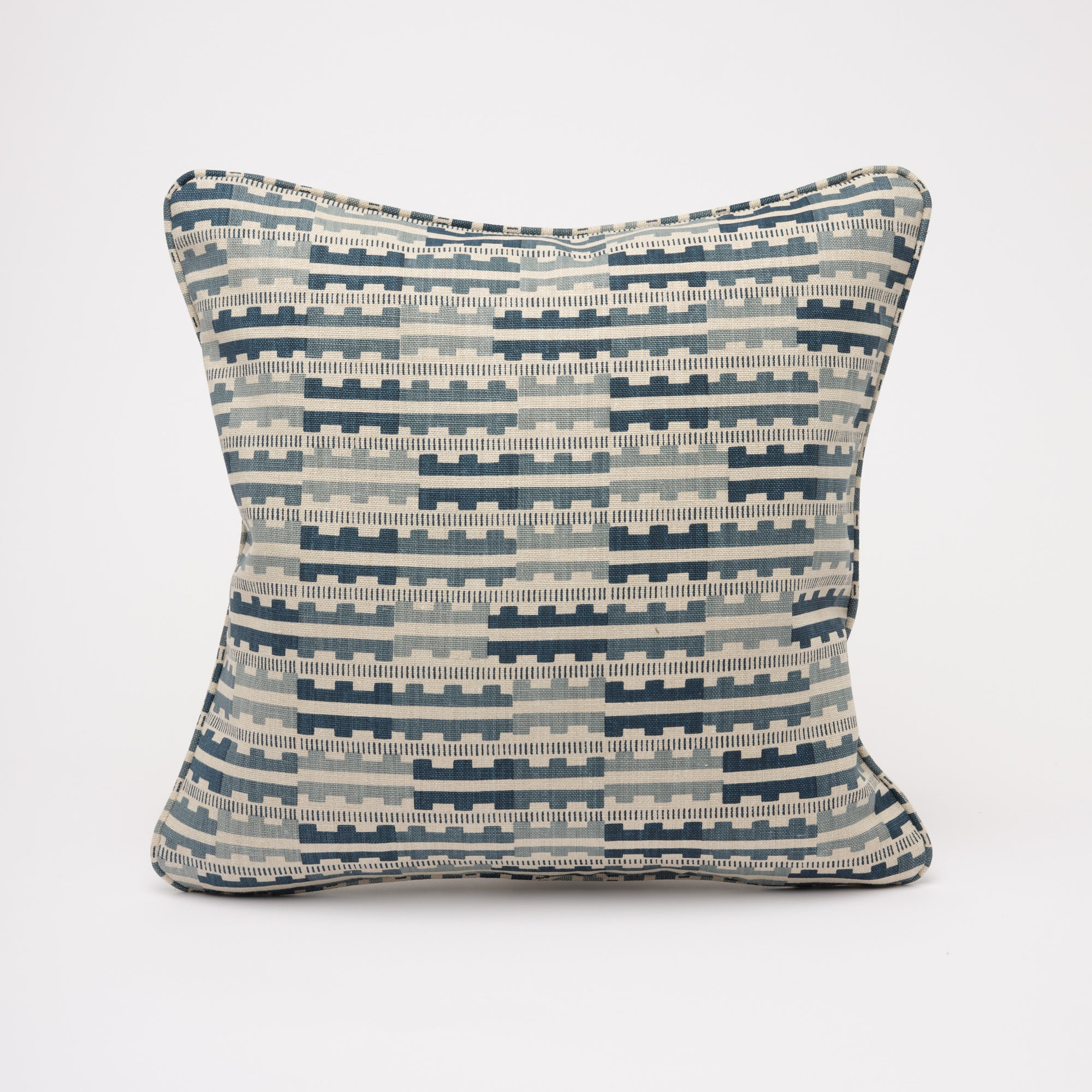 MARIANNE CUSHION - INDIGO NATURAL