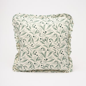 SOPHIA RUFFLE CUSHION - GREEN