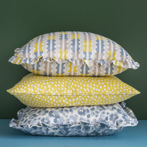 SPOTTY CUSHION - LEMON
