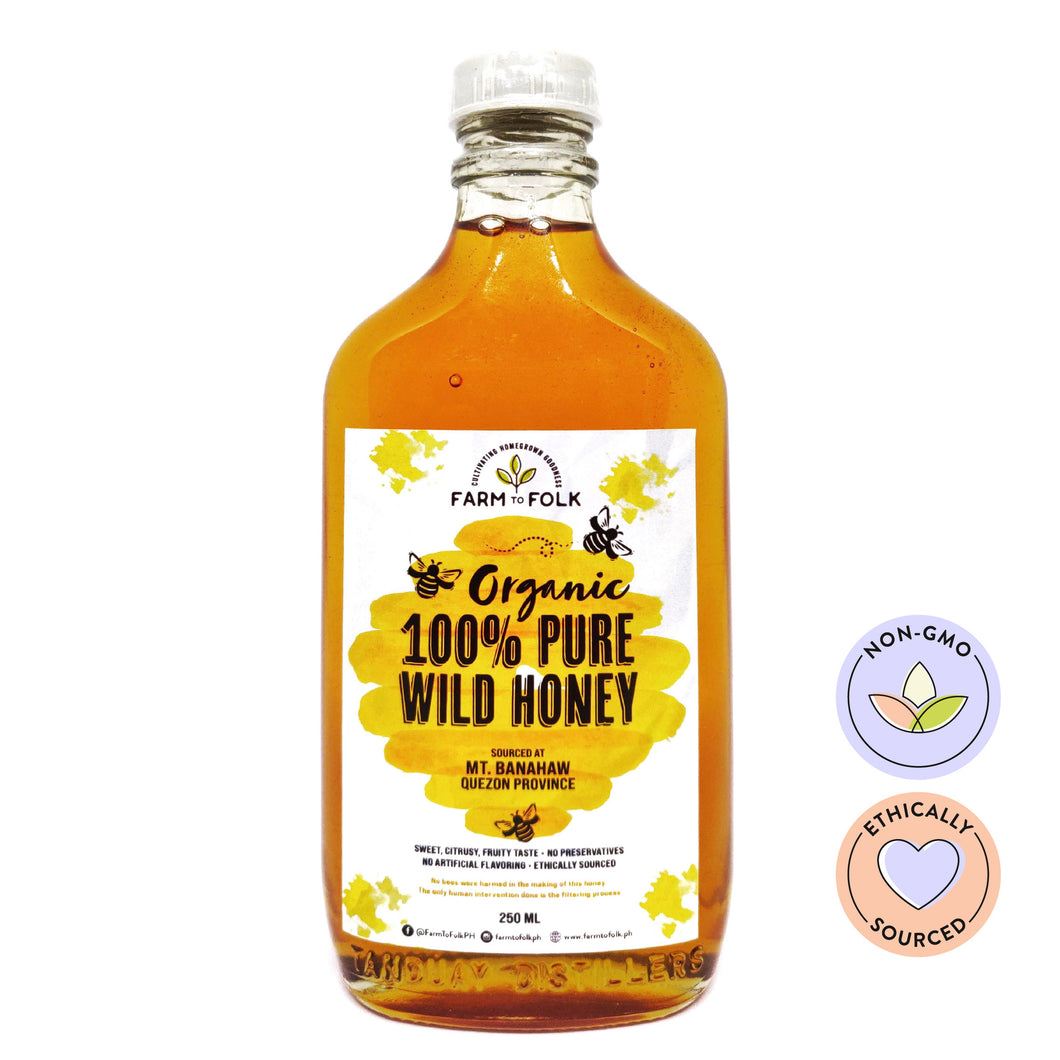 Organic 100% Pure Wild Honey